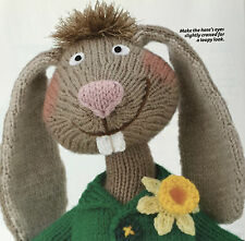 KNITTING PATTERN Alan Dart Mad March Hare Brained Rabbit Doll Toy 32cm PATTERN