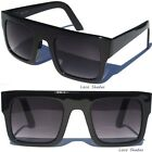 FLAT TOP GRADIENT LENS SUNGLASSES BLACK FRAME AVIATOR WAYFARER RETRO SUNNIES .