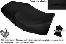 BLACK STITCH CUSTOM FITS YAMAHA XJR 400 DUAL LEATHER SEAT COVER ONLY
