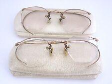 Lot of 2 GASPARI 1/10 12k GF Eyeglasses Frames Antique / Vintage NOS