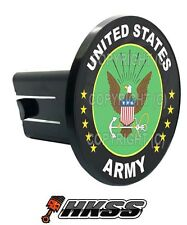 Universal Class 2  3 Tow Hitch Receiver Insert Cover Plug - US ARMY EAGLE GR CZF