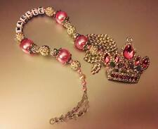 romany Swavorski crown rhinestones Bling Personalised Crown Dummy Clip Shamballa