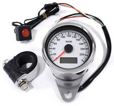 LCD LED Mini Speedometer electronic white 60mm for HD Harley Davidson 1995 -2015