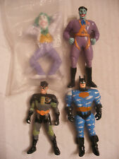MARVEL DC comics super heros figurine lot 4 PVC Batman Joker Robin Applause 1989