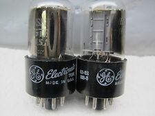 GE 6SN7 GTB  PLATINUM MATCHED PAIR,NOS,  Well-Balanced Triodes in Gm & Ip