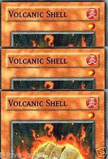 Volcanic Shell GLD2-EN024 X 3 MINT LIMITED YUGIOH YU-GI-0H