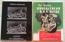 Harley Knucklehead Parts Book Service Manual Combo 1936-1947