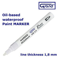 White Paint Marker Oil Based Opaque Pen Stone Metal Wood Glass Plastic Tyre