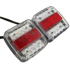 2x 46 LED Truck Trailer Tail Stop License Plate Lights Turnning Indicators Lamps