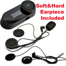TCOM-SC W/Screen Bluetooth Motorbike Helmet Intercom 800M Headset +Soft Earpiece