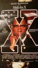 MALCOLM X poster de cine 1992 DENZEL WASHINGTON spike lee