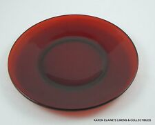 Vintage Red Ruby Glass Luncheon Dish 9 1/8""