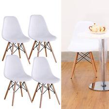 4pcs Stühle Wohnzimmerstuhl Eiffel Esszimmerstuhl Kunststoff Bürostuhl Weiß DE