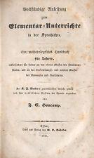 Honcamp, Anleitung Elementar-Unterricht Sprachlehre, Verlag Bädeker Essen 1841