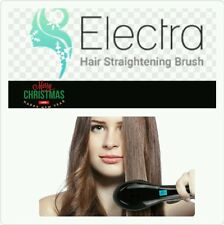 Electra Hair Straightener BrushElectric Iron Brush.Silky Hair. Black. Authentic