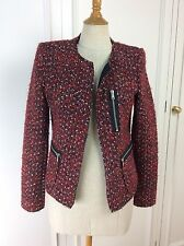 Zara Woman Red Boucle Jacket Size S