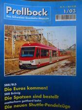 Prellbock n°1/2003 - SBB/BLS Die Euros kommen -Tr.19