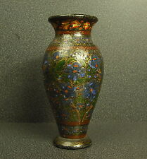 Petit vase ancien en bois peint Small old vase painted wood lackiertem Holz 15cm