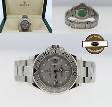 Rolex Yacht-Master 16622 40MM SS/Platinum Certified w/ Box/Papers $12350 Retail