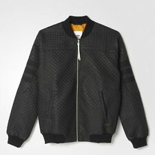 Adidas Quilted Bomber Jacket Black M AB0544