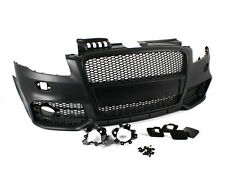 RS-Style Front Bumper w/ Black Badgeless Grille for 05-08 Audi A4/S4 B7