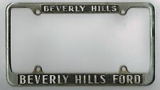 RARE 1950's Beverly Hills California Ford Vintage Dealer License Plate Frame