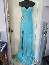 NWT $495 TERANI COUTURE STRAPLESS BEADED   Gown / Prom Dress SZ 4