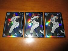 Lot (3) MATT ANDRIESE Rays 2015 Bowman Chrome ASIA EXCLUSIVE Black Refractor