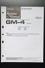 PIONEER GM-4 Stereo Amplificatore ULTERIORI Manuale di Servizio/Schema elettrico