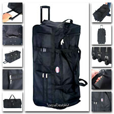 """Durable Large 36"""" Rolling Wheels Bag Luggage Tote Duffle Sports Travel Suitcase"""