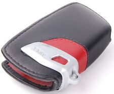 BMW F20 F21 F22 F25 F26 F30 F31 LEATHER CASE KEY FOB COVER HOLDER BLACK RED