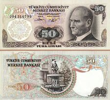 TURKEY 50 LIRASI UNC  # 219