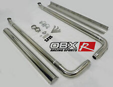 OBX Side Pipe Exhaust For 67 68 69 70 71 80 81 Camaro Firebird w/ Heat Shield