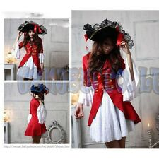 Women adult Sexy Pirates witch Lady Fancy Dress Halloween Cosplay Costume Outfit