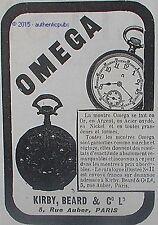 PUBLICITE OMEGA MONTRE  GOUSSET TACHYMETRE POUR AUTO DE 1904 FRENCH AD PUB RARE