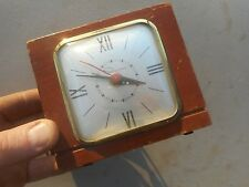 ** Vintage Ingraham Wood Model 34-124 Electric Alarm Clock Shelf Mantle **