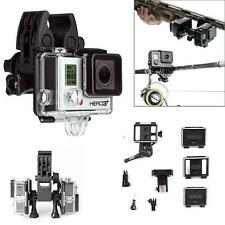 GoPro 2 3 3+ 4 Camera Mount Clip Outdoor Rifle Gun/Fishing Rod/Bow Sportsman