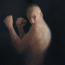 Pojani, the Boxer, Fighter, Original Oil Painting, ipalbus, Man, Male Modern Art