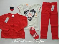 NWT Gymboree CIAO PUPPY 5pc Outfit Set Top Sweater Jeggings Socks Bows Girls 4T