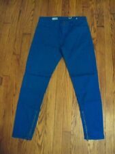 Women's Gap 1969 Legging Jean Turquoise Leg Zippers 28/6