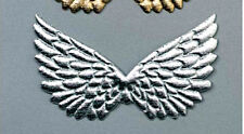 2 Piece Package 4 3/4 inch Angel Wings Silver Craft Making  B105*