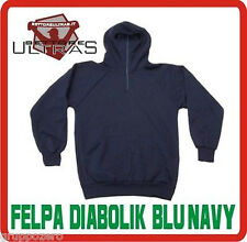 Felpa DIABOLIK blu notte CAPPUCCIO Ultras stadio SWEAT ninja SOFTAIR