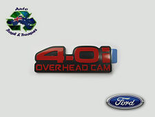 "GENUINE FORD BADGE FENDER RED ""4.0 i OVERHEAD CAM"" XG FALCON UTE 1993   1995"