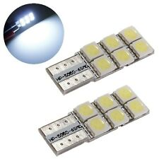 2x Bombilla T10 W5W 5050 6 SMD LED Wedge COCHE Xenón Blanco Car Tail Turn light