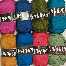 100% Bamboo,Mixed Color, 8 balls(400g), Knitting yarn
