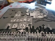 Williams Sonoma hard mat placemats  Moon Halloween set 6  New