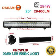 20Inch 294W 29400LM 5D 42X OSRAM LED Work Light Bar Combo Beam 4WD Offroad Lamp