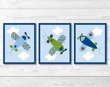 Little Aviator Airplane Printable Nursery Wall Art