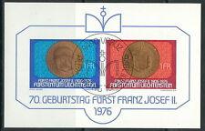 Liechtenstein - 70. Geb. Fürst Franz Josef gestempelt 1976 Block 10 Mi. 649-650