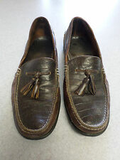 Sperry Top Sider Brown/Dark Brown Leather Moc Toe Tassel Loafers Men's 13M